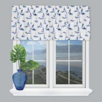 Coastal Living® Sailboats Tailored Window Valance in Blue