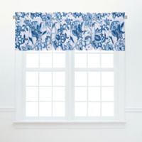 Nina Ruffled Window Valance in Blue