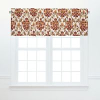 Agnes Ruffled Valance Pair in Red