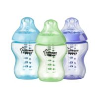 Tommee Tippee® Closer to Nature® Color My World 3-Pack 9 oz. Bottle in Blue Assortment