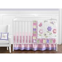 Sweet Jojo Designs Butterfly 11-Piece Crib Bedding Set in Pink/Purple