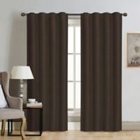 Therapedic® Carlisle 95-Inch 100% Blackout Rod Pocket Window Curtain Panel in Java