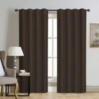 Therapedic® Carlisle 108-Inch 100% Blackout Rod Pocket Window Curtain Panel in Java