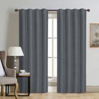 Therapedic® Carlisle 108-Inch 100% Blackout Rod Pocket Window Curtain Panel in Steel Blue