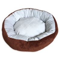 Soft Dog Bed in Brown/Grey