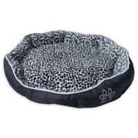Medium Soft Pet Bed in Black/White with Removable Insert