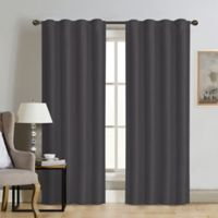 Therapedic® Carlisle 84-Inch 100% Blackout Rod Pocket Window Curtain Panel in Pewter