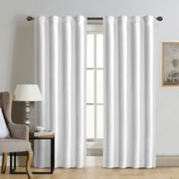 Therapedic® Carlisle 84-Inch 100% Blackout Rod Pocket Window Curtain Panel in Snow