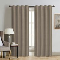Therapedic® Carlisle 63-Inch 100% Blackout Rod Pocket Window Curtain Panel in Taupe