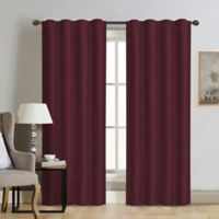Therapedic® Carlisle 84-Inch 100% Blackout Rod Pocket Window Curtain Panel in Merlot