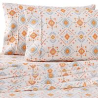 Home Collection Aztec Dreams Twin Sheet Set in Coral