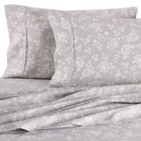 Home Collection Rose Cal King Sheet Set in Light Grey