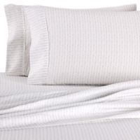 Home Collection Beaded Arrows Queen Sheet Set in Light Grey