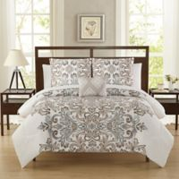 Carine 12-Piece Reversible Full Comforter Set in Neutral