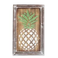 Pineapple Wall Plaque 14.5-Inch x 24-Inch Framed Wood Art