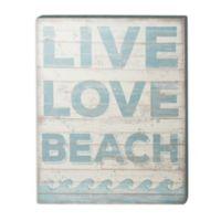 Love Beach Wall Art in Blue