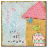 Courtside Market™ Joy All Around 16-Inch x 1.5-Inch Framed Wrapped Canvas