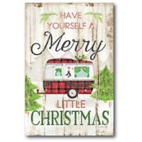 Courtside Market™ Christmas Camper Merry Little 12-Inch x 1.5-Inch Framed Wrapped Canvas