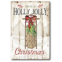 Courtside Market™ Holly Jolly 12-Inch x 1.5-Inch Framed Wrapped Canvas