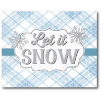 Courtside Market™ Let It Snow 16-Inch x 1.5-Inch Framed Wrapped Canvas