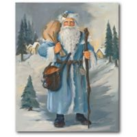 Courtside Market™ Blue Santa 16-Inch x 1.5-Inch Framed Wrapped Canvas