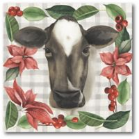 Courtside Market™ Cow Holiday 16-Inch x 1.5-Inch Framed Wrapped Canvas