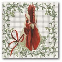 Courtside Market™ Rooster Holiday 16-Inch x 1.5-Inch Framed Wrapped Canvas