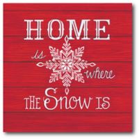 Courtside Market™ Home & Snow 16-Inch x 1.5-Inch Framed Wrapped Canvas