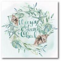 Courtside Market™ Coastal Wreath Iii 16-Inch x 1.5-Inch Framed Wrapped Canvas