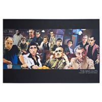 Licensed The Bad Guys Mafia Collage 36-Inch x 24-Inch Canvas Wall Art