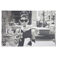 Audrey Hepburn 1.5-Inch x 24-Inch Wrapped Canvas in Black/white
