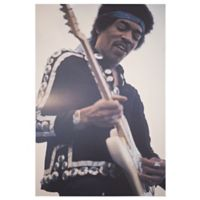 Licensed Jimi Hendrix 24-Inch x 36-Inch Canvas Wall Art