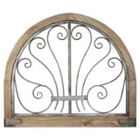 """Arched Farmhouse 28"""" x 24"""" Wall Art in Brown"""