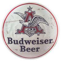 """Budweiser 15"""" Metal Art in White"""