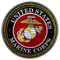 Masterpiece Art Gallery 15.5-Inch Round United States Marine Corps Metal Sign Wall Art