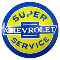 Chevy 2-Inch x 15-Inch Metal Art in Blue/yellow