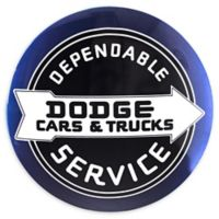Dodge 2-Inch x 15-Inch Metal Art in Black