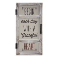 Grateful Heart Window Sign 2-Inch x 23.75-Inch Wall Art