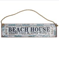 Beach House Sign 2-Inch x 11-Inch Wall Art