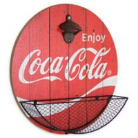 Cocacola Bottle Opener/catcher 3.25-Inch x 13.75-Inch Functional Wall Art in Red