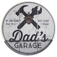Bottle Opener And Catcher 3.25-Inch x 14-Inch Functional Wall Art in White