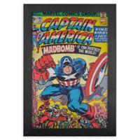 Captain America 1-Inch x 19-Inch Framed Print