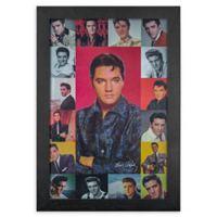 Vintage Elvis Presley 13-Inch x 19-Inch Framed Print