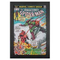 Masterpiece Art Gallery Spider-Man Comic Book 13-Inch x 19-Inch Framed Print Wall Art