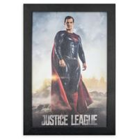 Masterpiece Art Gallery Justice League Superman 13-Inch x 19-Inch Framed Print Wall Art