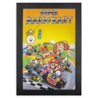 Masterpiece Art Gallery Super Mario 13-Inch x 19-Inch Framed Print Wall Art