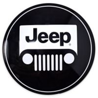 Jeep Logo 15-Inch Metal Art in Black/White