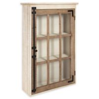 Kate and Laurel Hutchins Windowpane Wall Storage Cabinet in Natural