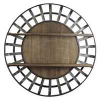 Masterpiece Art Gallery 35.5-Inch Wood and Metal Round Hanging Wall Shelf