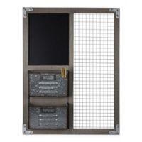 Masterpiece Art Gallery 26-Inch x 20-Inch Wall Organizer with Chalkboard and 2 Storage Bins